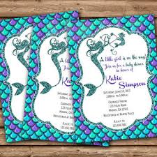 mermaid baby shower mermaid baby shower invitation mermaid from partyprintexpress