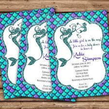 mermaid baby shower invitations mermaid baby shower invitation mermaid from partyprintexpress