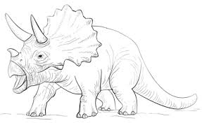 triceratop dinosaur coloring free printable coloring pages