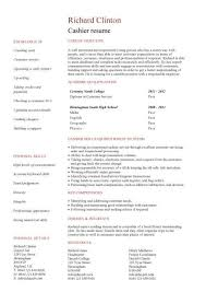 cashier resume template student entry level cashier resume template