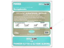 pioneer scrapbook refills pioneer refill page scrapbook 11 75x14 buff 25pc createforless