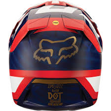 fox helmets motocross 2018 fox racing v3 preest helmet navy red sixstar racing