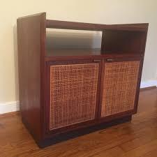 Record Storage Cabinet Mid Century Modern Walnut Turntable Record Storage Cabinet Epoch