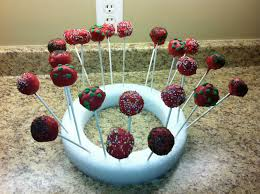 Christmas Cake Pop Decorations by Rockabye Butterfly Christmas Cake Pops