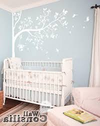 Nursery Wall Mural Decals Tree Wall Decal Nursery Wall Decor White Tree Wall Mural Nursery