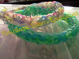 double cross bracelet images Double cross single rainbow loom bracelet 7 steps jpg
