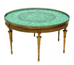 Vintage Coffee Tables by Vintage Malachite Brass Coffee Table Round From Raritetantique On
