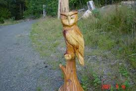 cedar wood sculpture owls chain saw carving sculpture thedreamerswoods chainsaw