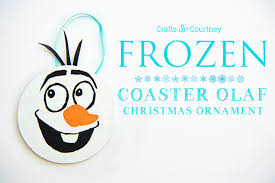 craft olaf ornament from a coaster
