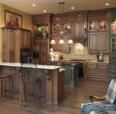 Rustic Distre Kitchen Rustic Kitchen With Unfinished Pine Cabinets Hickory