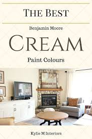 the best benjamin moore cream paint colours for a room including