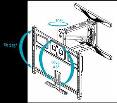 vm400pf fireplace tv wall mount pull down tilt u0026 swivel black