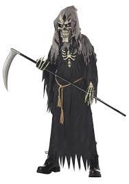 Scary Halloween Costumes Boys Kids Dark Messenger Costume