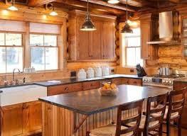 Log Home Kitchen Cabinets - kitchen log home normabudden com