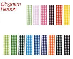 gingham ribbon vibrant gingham ribbon 25 yards choose colors and size h03134