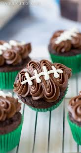 easy to make halloween cakes and cupcakes easy football cupcakes recipe football cupcakes decorating