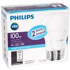 daylight led light bulbs home hardware 2 pack 14 watt a19 medium base non dimmable daylight