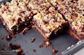 german chocolate brownie bars with brown sugar pecan crust