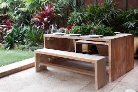Building Outdoor Wooden Furniture by Build A Timber Outdoor Table Australian Handyman Magazine