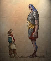 david and goliath by thebeke on deviantart