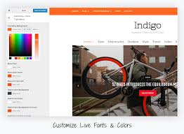 colors home page meet indigo u2014 our new u0026 modern magazine theme