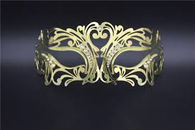 metal masquerade mask golden metal masquerade party masks gold rhinestone
