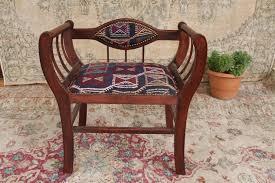 Kilim Storage Ottoman Funky Vintage Ottoman Hassock Pouf Seat Bench With Storage Foot