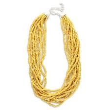 mr mustard mr mustard yellow bead necklace polyvore