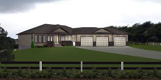 Ranch Style House Plans With Walkout Basement Inside Garage Ideas Garage By E Designs House Plans With 3