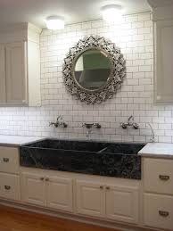 kitchen backsplash ideas black countertops using wallpaper and