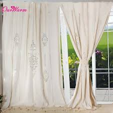 Country Style Curtains For Living Room Aliexpress Com Buy Hottube Curtain French Country Cotton Linen