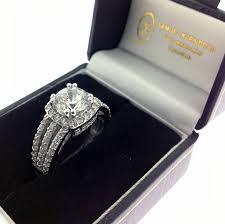 modern wedding rings newlyweds triple split shank engagement rings