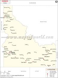 Map Of Idaho And Utah by Cities In Idaho Idaho Ciies Map