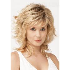haircut for wispy hair shaggy layered mid length wispy bang haircut synthetic hair