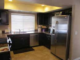 Kitchen Cabinets Refrigerator Inspiring Black And Bold Kitchen Designs With Big Refrigerator And