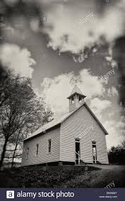 vintage style image of an old country church located in cades cove