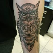 sugar skull amazing owl bird idea for sleeve golfian com