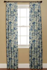 Blue Toile Curtains Collection In Blue Toile Curtains And Blue Toile Curtains