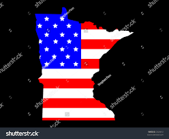 Minnesota State Map Map State Minnesota American Flag Stock Vector 2926813 Shutterstock