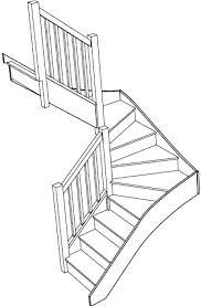 U Stairs Design Left Winder Staircase U Shaped Stair Design