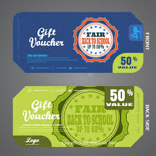 green gift voucher vector illustration blank of back to school fair gift voucher vector illustration to