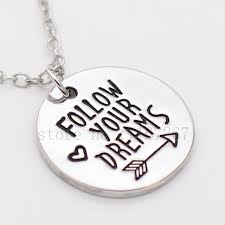 inspirational necklaces follow your dreams sted necklace inspirational necklace