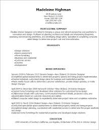 interior design resume exles interior designer resume template best design tips myperfectresume