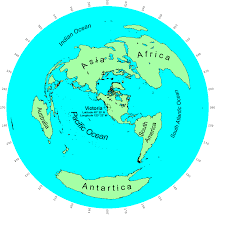 Azimuthal Map The World