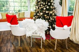 christmas chair covers how to diy christmas chair covers hallmark channel