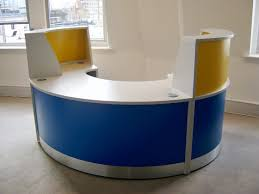 Yellow Reception Desk Flex Polo Reception Desk Finished With A Mix Of Standard Finished