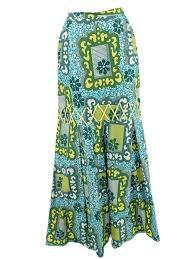 hawaiian pattern skirt 70s 1970s hawaiian tapa print maxi skirt blue velvet vintage