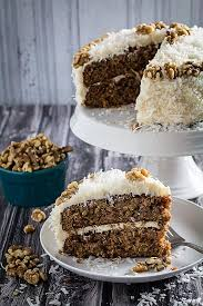 gluten free carrot cake with coconut u0026 cream cheese frosting