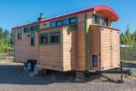 exterior design appealing tumbleweed tiny house with oak wood