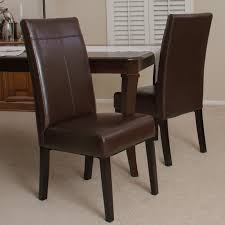Dinette Chairs by Palazzo Dining Chairs Brown Set Of 2 Hayneedle